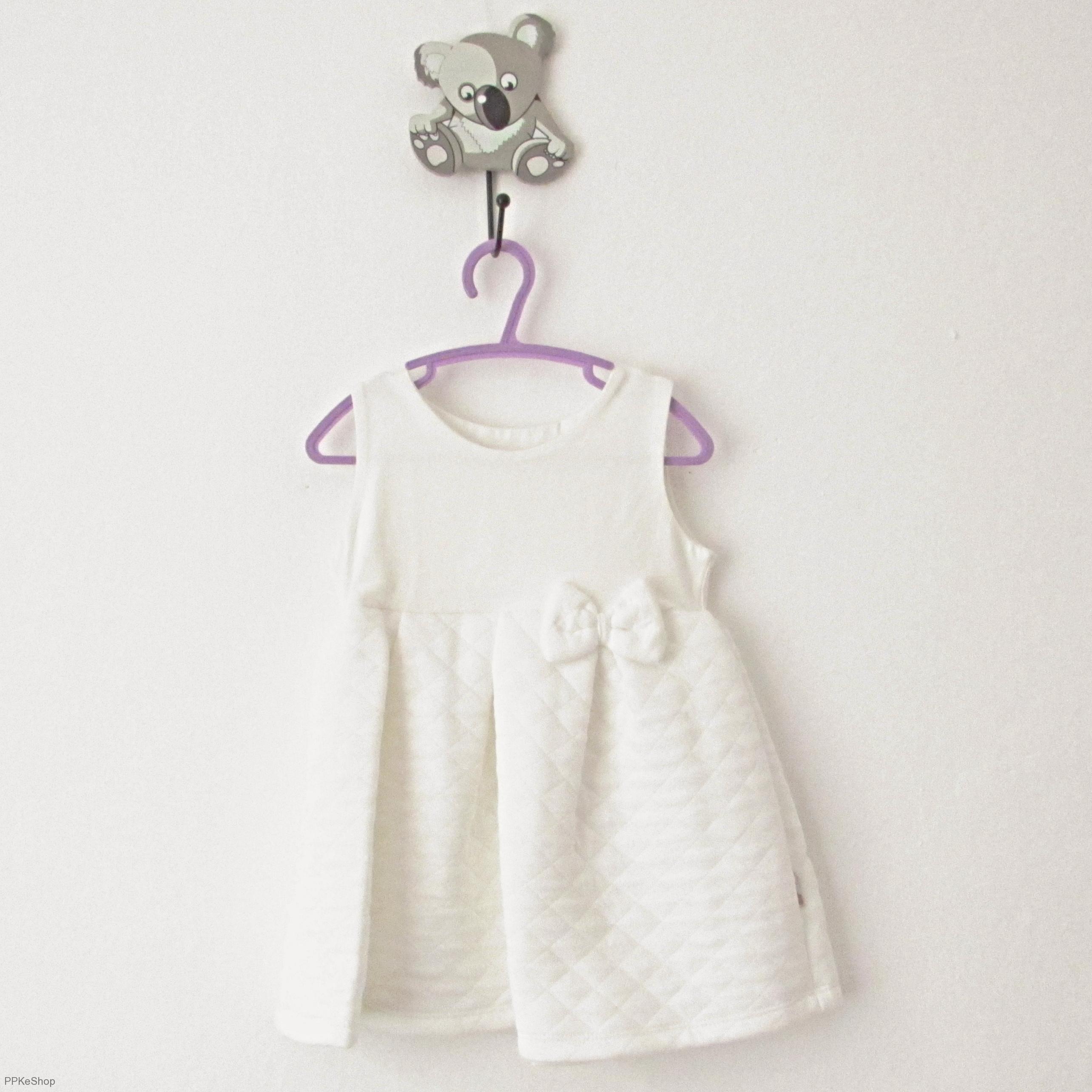 cac9bd286872 Šaty na ramienka - biele - s mašličkou   v. 92